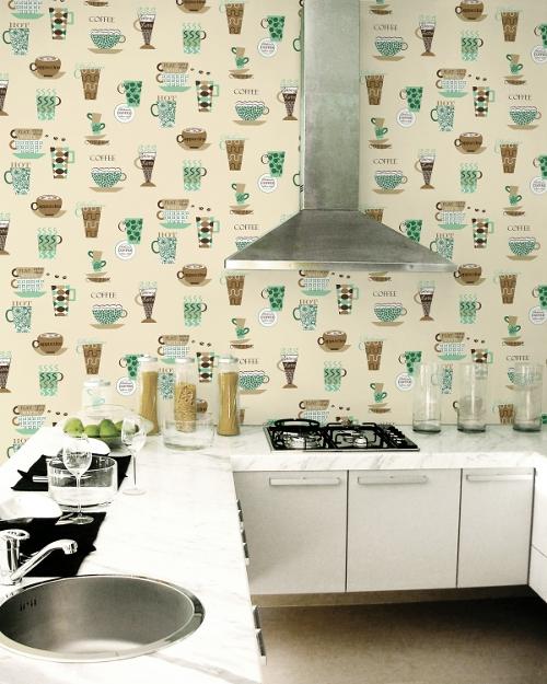 essener tapete fresh kitchen 5 fk34429 kaffee coffee k che k chentapete vinyl ebay. Black Bedroom Furniture Sets. Home Design Ideas
