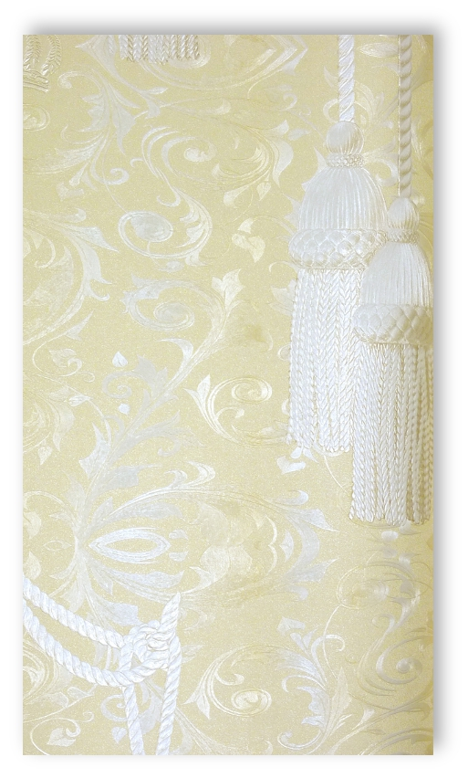 marburg tapete harald gl ckler 52550 hellbeige satin barock quasten ebay. Black Bedroom Furniture Sets. Home Design Ideas