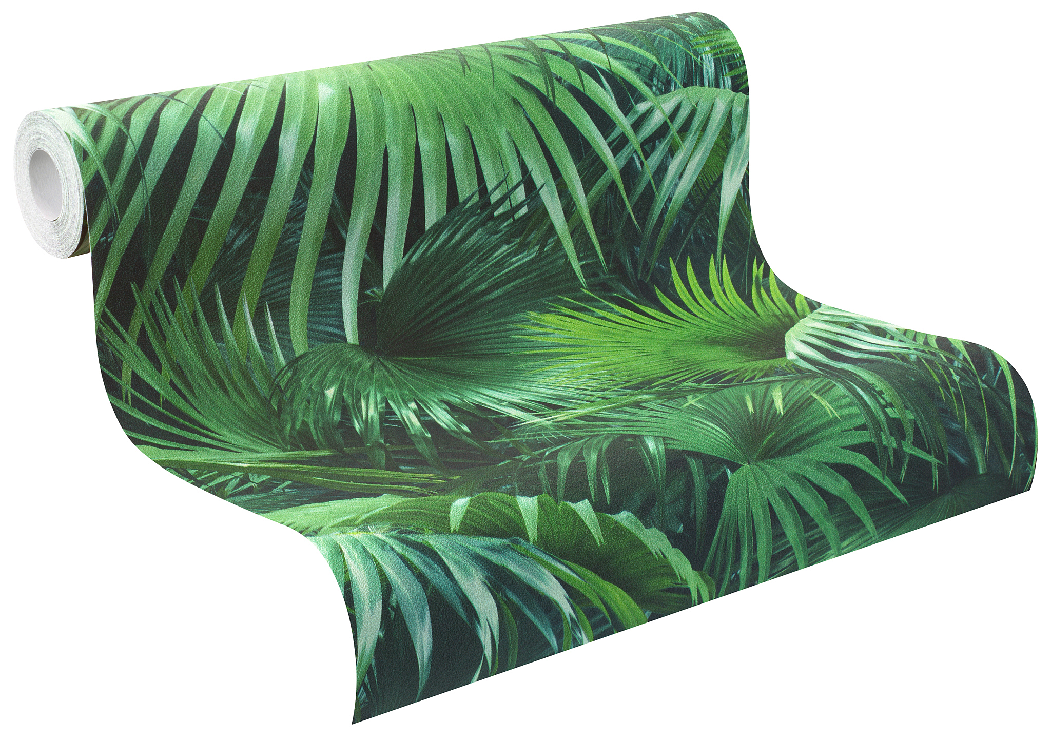 Rasch tapete crispy paper 524901 palm trees jungle plant for Fleece tapete