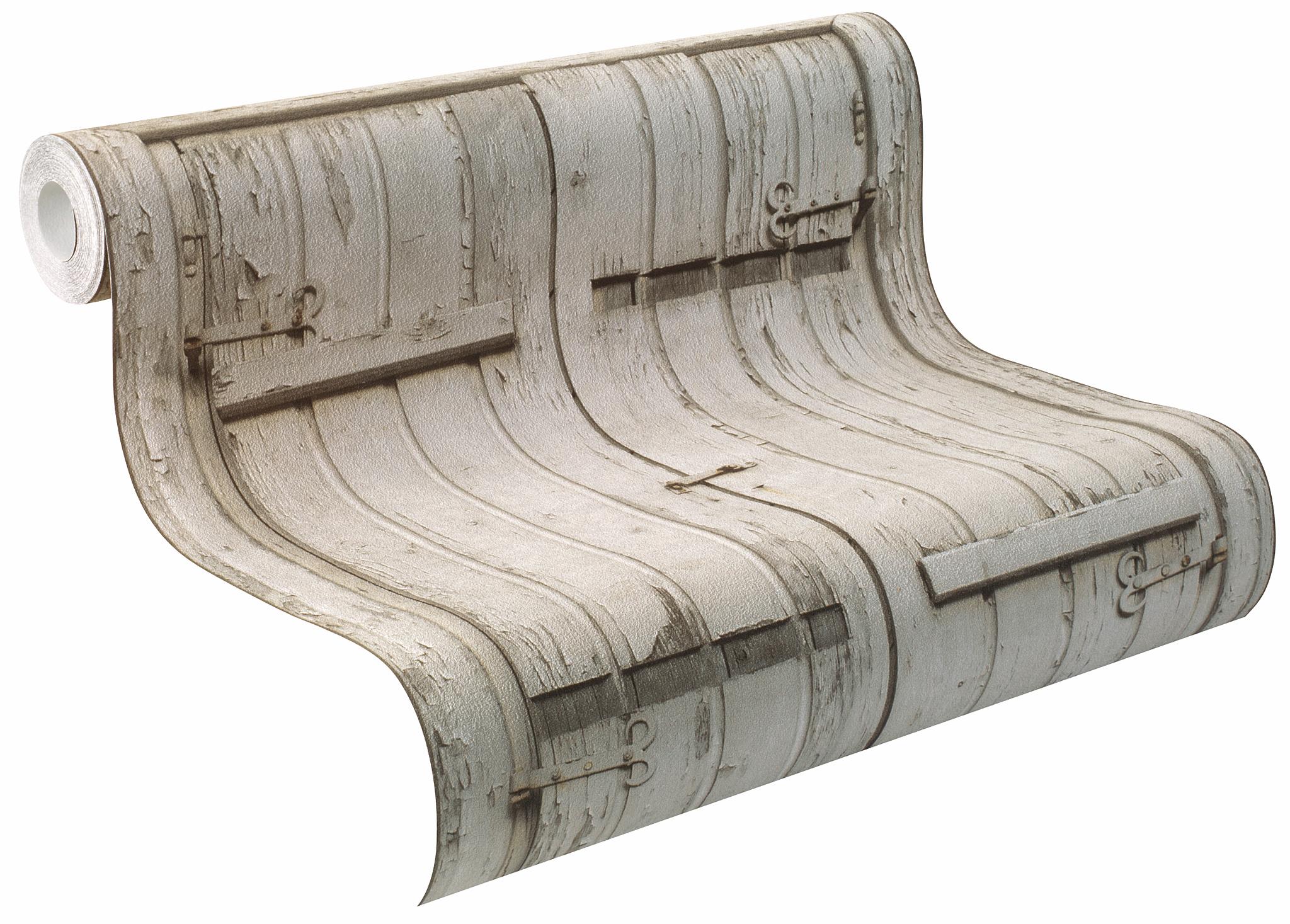 Rasch tapete crispy papier 525007 fen tre de grange caisse en bois papier peint - Tapee de fenetre ...