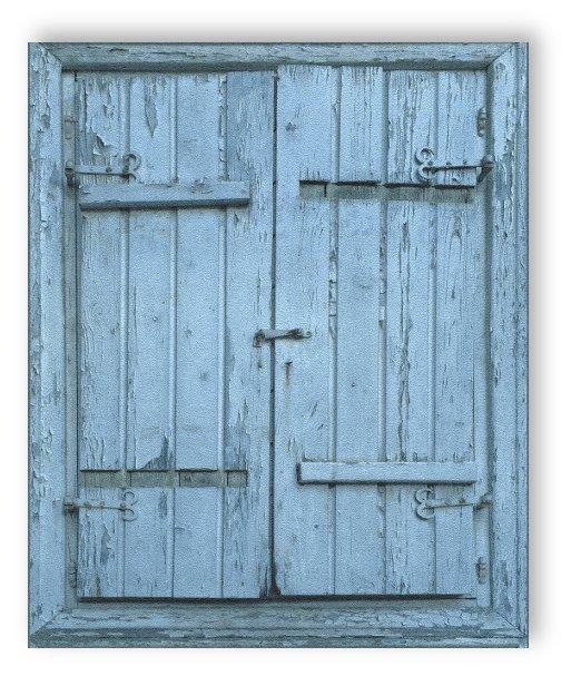 Rasch tapete crispy papier 525021 fen tre de grange caisse en bois papier peint - Tapee de fenetre ...