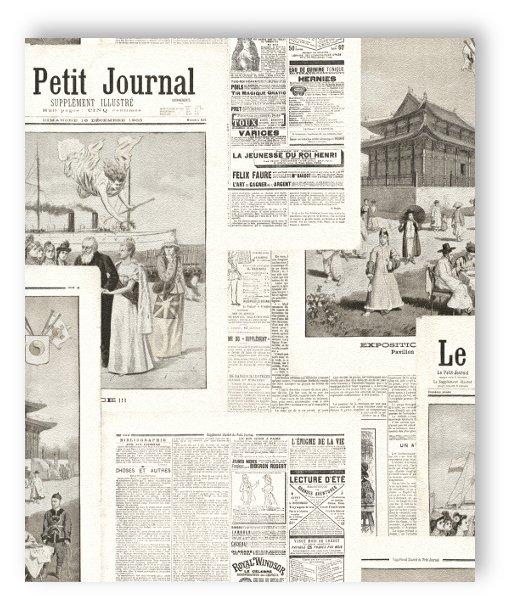 Rasch tapete croustillant papier 526516 vieux journaux journal papier peint - Papier peint motif journal ...