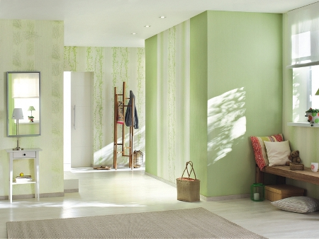rasch tapete easy passion 2015 731668 baum gelb gr n 5 59 m borte bord re ebay. Black Bedroom Furniture Sets. Home Design Ideas