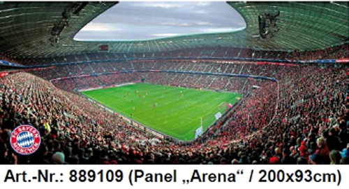 rasch tapete wandbild fc bayern arena 889109 digitaldruck panel fu ballstadion ebay. Black Bedroom Furniture Sets. Home Design Ideas