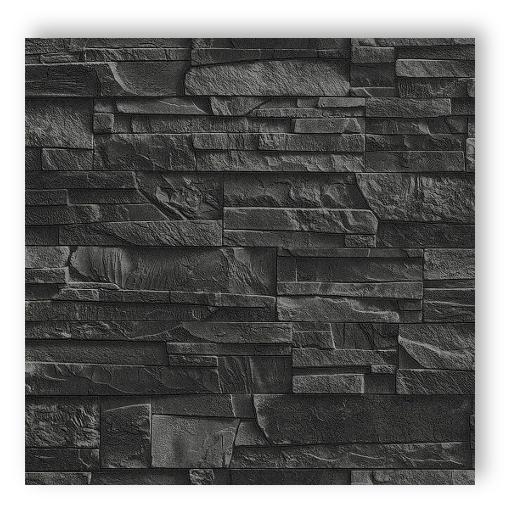 wohnzimmer und kamin stein tapete schwarz wohnzimmer. Black Bedroom Furniture Sets. Home Design Ideas