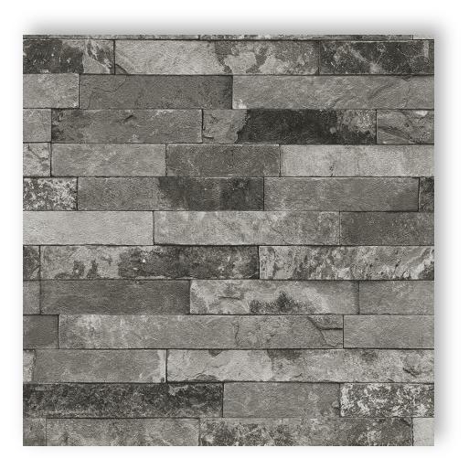 rasch tapete factory 2014 nr 438406 steinoptik mauer grau schwarz 5 90 m ebay. Black Bedroom Furniture Sets. Home Design Ideas