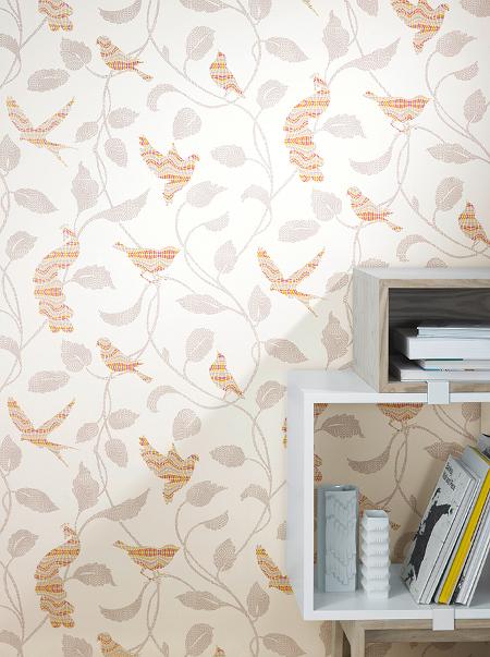 rasch tapete funky flair 2015 721713 v gel bl tter mosaik 4 12 m vliestapete ebay. Black Bedroom Furniture Sets. Home Design Ideas