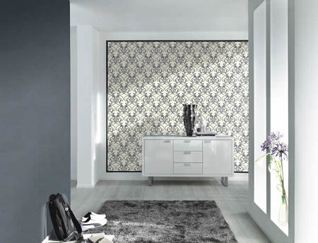 rasch tapete glamour 2014 404418 ornament glitter silber 3 93 m vliestapete. Black Bedroom Furniture Sets. Home Design Ideas