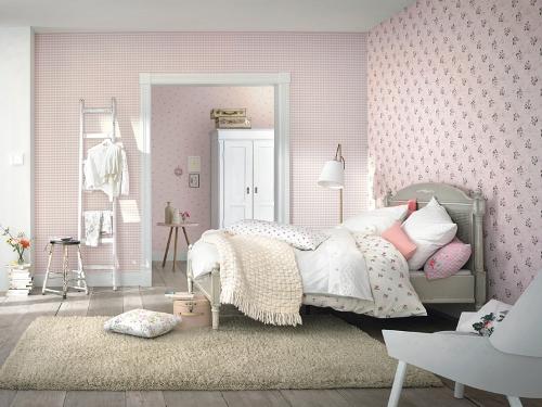rasch tapete lazy sunday 2016 453935 streubl mchen rosa. Black Bedroom Furniture Sets. Home Design Ideas