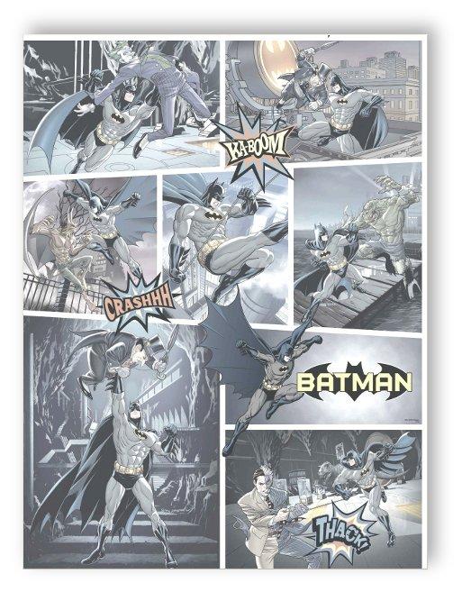 rasch tapete comics more 9001 2 marvel batman comic. Black Bedroom Furniture Sets. Home Design Ideas