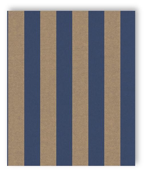 rasch tapete comtesse 225463 rasch textil streifen blockstreifen gold blau vlies ebay. Black Bedroom Furniture Sets. Home Design Ideas