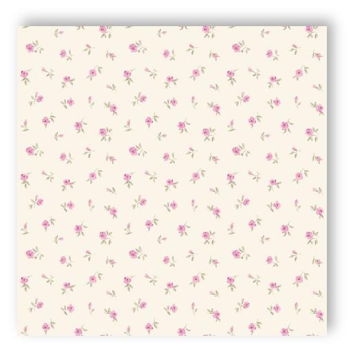 Textil Tapeten Verarbeiten : Rasch Tapete Denim & Co. 137701 kleine Bl?mchen 7,50 ?/m? wei?