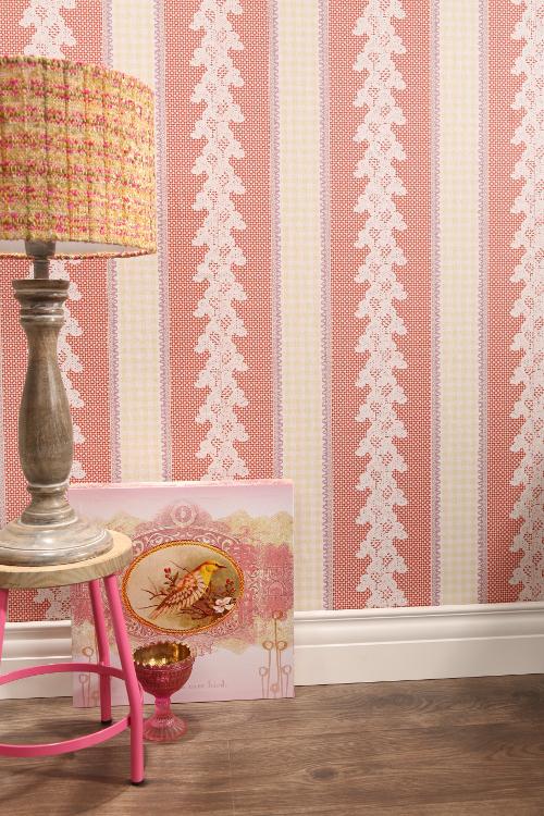 Papier peint journal mill sime 255491 rasch textil motif cercle magenta ebay - Papier peint motif journal ...