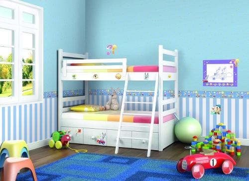 Rasch tapeten kinderzimmer  Rasch Wonderland Tapete 318332 Streifen 4,71 €/m² Blockstreifen ...