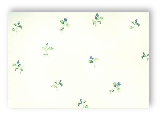 smita fiorellini 52718 petites roses fleurs blanc bleu papier peint vinyle. Black Bedroom Furniture Sets. Home Design Ideas