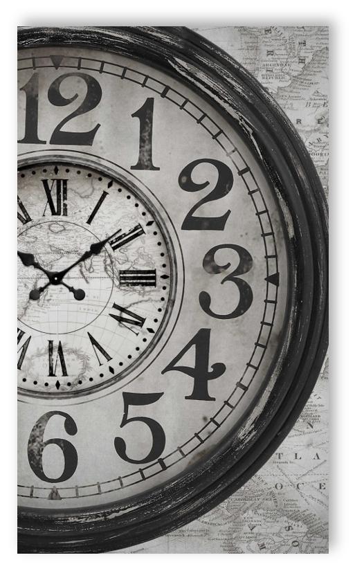 smita papier peint htd17304 hit the road tableau mural panneau photo horloge. Black Bedroom Furniture Sets. Home Design Ideas