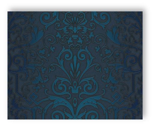 Tapete Vlies Blau Satin Ornament Nr