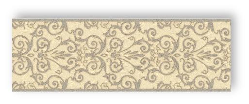 Versace Home Wallpaper 935475 Borte Bordüre creme grau Satin Barock Vlies Farby, tapety i akcesoria