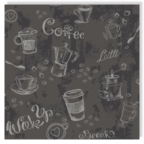 Essener Tapete Primavera 7529 Kaffee Coffee Wake up Latte Vliestapete Vlies Masi
